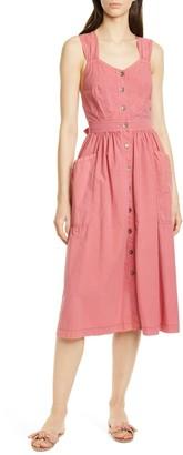 La Vie Rebecca Taylor Sleeveless Poplin Midi Dress