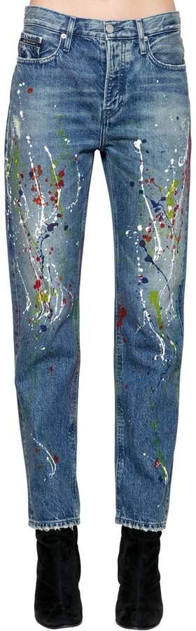 Calvin Klein Jeans High Rise Paint Splatter Denim Jeans