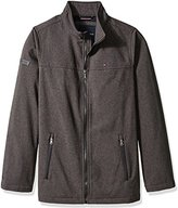 Tommy Hilfiger Men's Tall Size Soft-Shell Classic Zip-Front Jacket with Tonal Logo At Back Neck