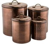 Old Dutch 4-pc. Antique Hammered Copper Canister Set