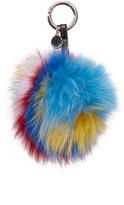 Jocelyn 6 Color Fur & Leather Bag Charm