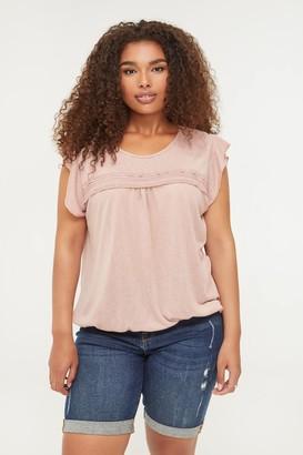 Ardene Plus Size Ruffled Sleeves Top
