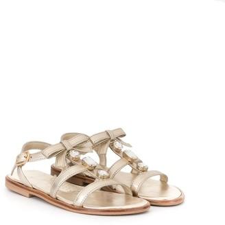 MonnaLisa Crystal-Embellished Sandals
