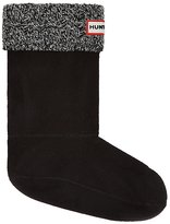 Hunter Boots Women's 6 Stitch Cable Short Boot Sock Blk/Gry M US