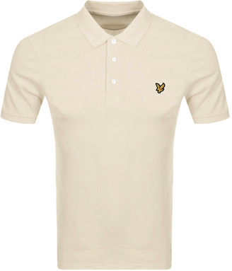 Lyle & Scott Short Sleeved Polo T Shirt Brown