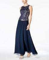 J Kara Embellished A-Line Gown