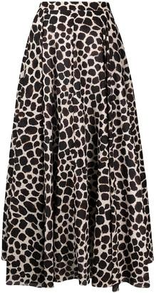 Cara Cara Animal-Print Full Skirt