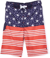 Lucky Brand Navy American Flag Board Shorts - Boys