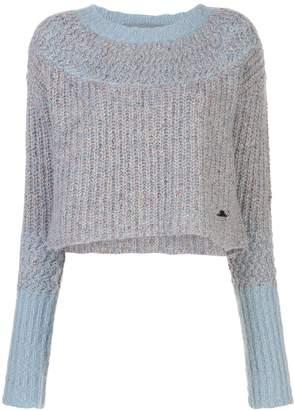 Raquel Allegra two tone crop sweater