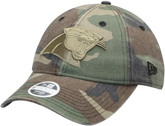 New Era Women's Camo Carolina Panthers Core Classic Tonal Woodland 9TWENTY Adjustable Hat