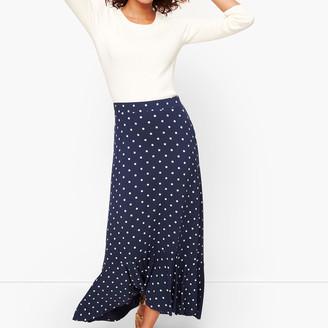 Talbots Dot Flounce Hem Maxi Skirt