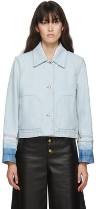 Loewe Blue Button Denim Jacket
