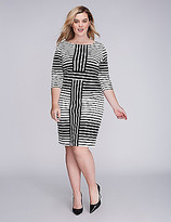 Gabby Skye Mixed Stripe Sheath Dress