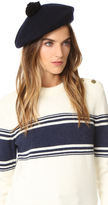 Club Monaco Parri Beret with Pom Pom
