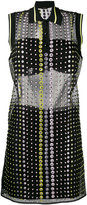 Versace crystal embroidered sheer dress - women - Silk/Polyester/Acetate/Viscose - 42