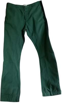 Laurence Dolige Green Cotton Trousers for Women
