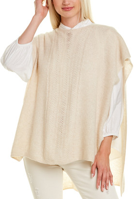 Johnny Was Thea Cashmere & Linen-Blend Poncho