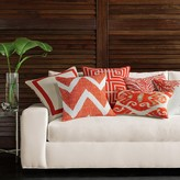 Chevron Crosshatch Pillow Cover, Coral