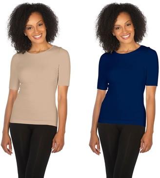 Skinnytees skinnytees Missy Elbow-Sleeve Crew-Neck Set of 2 T-Shirts