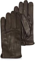 Moreschi Canada Dark Brown Leather Men's Gloves w/Cashmere Lining