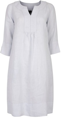 Nologo Chic Life Style Easy Linen Tunic Dress - Powder Blue