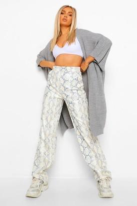 boohoo Chunky Knit Bat Wing Maxi Cardigan