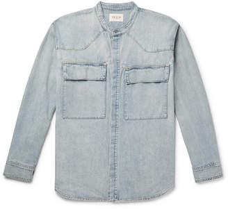 Fear Of God Grandad-Collar Washed-Denim Shirt