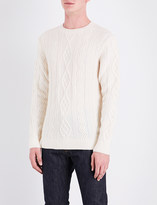 A.P.C. Jacques Yves cable-knit virgin-wool jumper