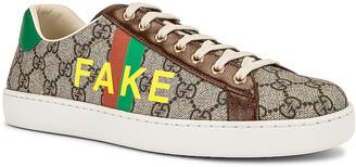 Gucci GG Supreme Sneaker in Beige & Green & Red & Brown | FWRD