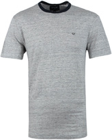 True Religion Applique Linen Heather Grey Crew Neck T-shirt