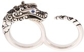 John Hardy Naga sapphire, spinel and sapphire two finger ring