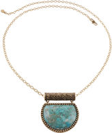 Barse BIJOUX BAR Art Smith by Genuine Turquoise Brass Pendant Necklace