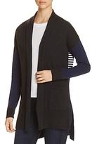 Three Dots Color-Block Stripe Cardigan