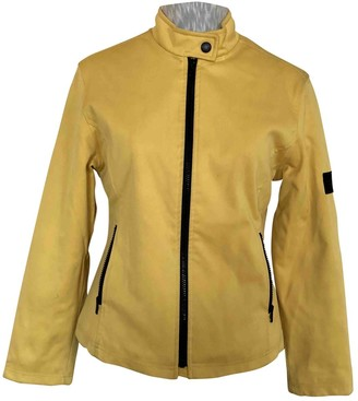Burberry Yellow Leather Jacket for Women Vintage