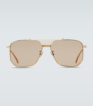 Bottega Veneta Aviator frame sunglasses