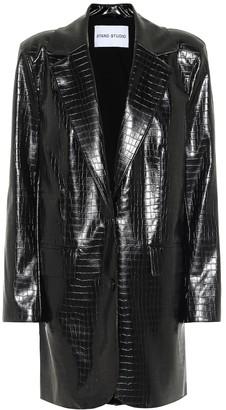 Stand Studio Juniper faux leather blazer