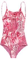 Maaji Forever Summer Lace-Up One-Piece Reversible Swimsuit