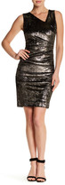 Nicole Miller Metallic Tuck Dress