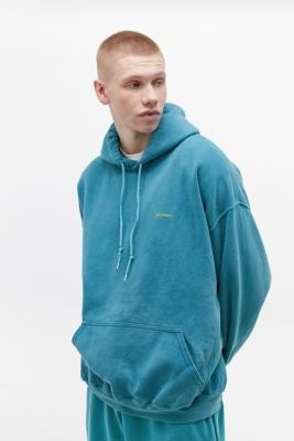 Urban Outfitters Iets Frans... iets frans... Overdyed Teal Hoodie - blue XS at