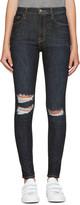 Frame Navy Ali High-rise Skinny Jeans