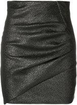 IRO fitted asymmetric skirt