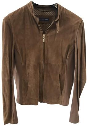 Trussardi Jeans Beige Suede Jacket for Women