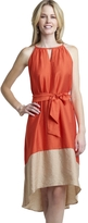 The Limited Colorblock Tie Waist Dress
