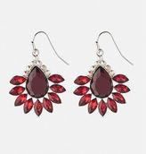 Avenue Merlot Starburst Drop Earrings