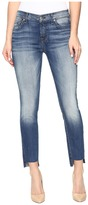 7 For All Mankind Ankle Skinny w/ Step Hem in Distressed Authentic Light 3
