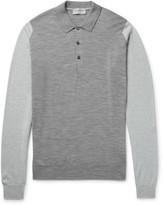 John Smedley - Brightgate Two-tone Merino Wool Polo Shirt