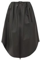Bottega Veneta Utility-zip Leather Skirt - Womens - Dark Grey