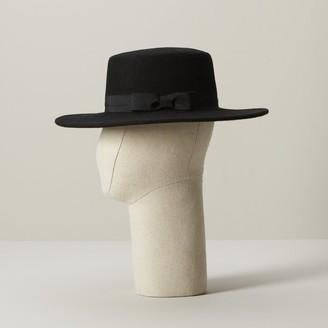 Love & Lore Love And Lore Flat Top Hat Black