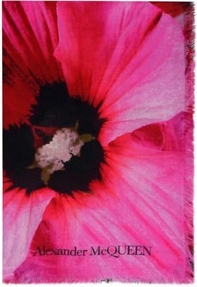 Alexander McQueen Frayed Edges Printed Shawl