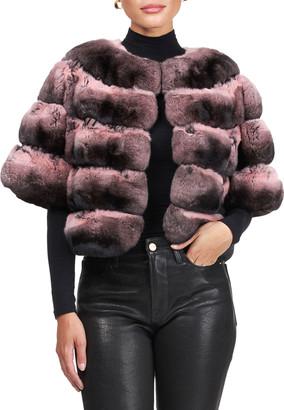 Pajaro Short-Sleeve Chinchilla Bolero Jacket